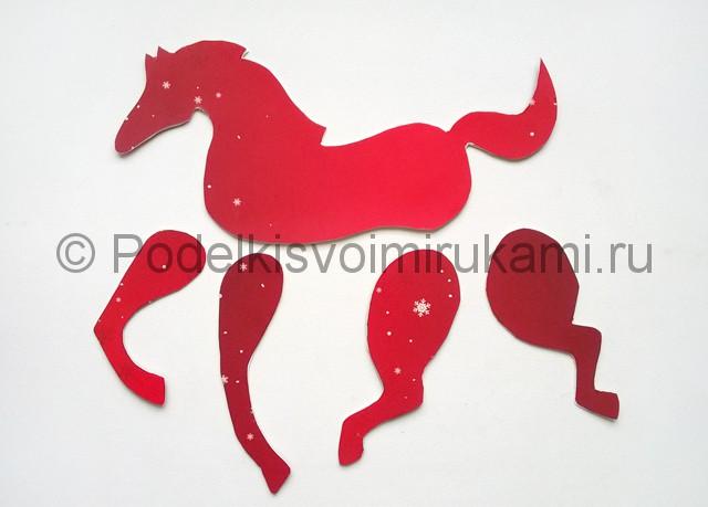 Как сделать лошадь из бумаги. Фото 8.