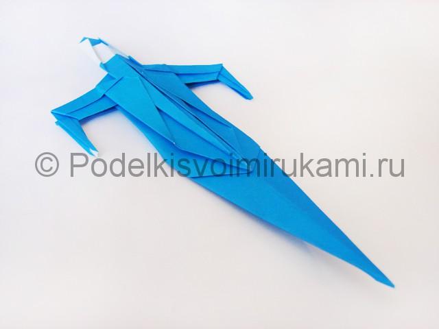 Как сделать меч из бумаги своими руками. Итоговый вид поделки. Фото 1.