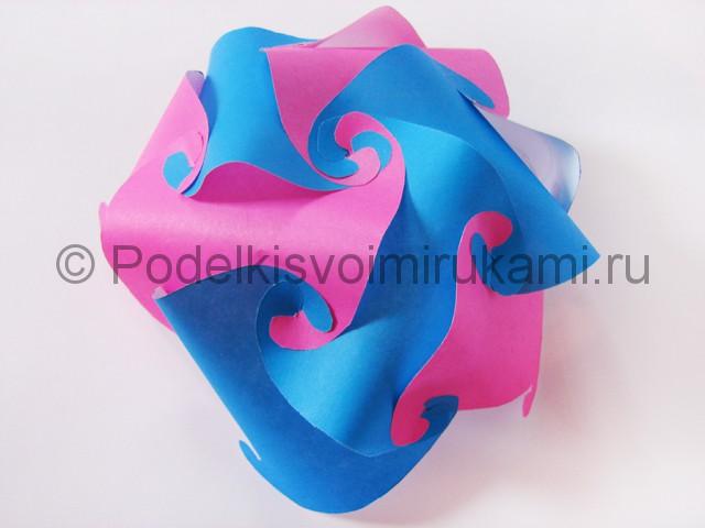 Как сделать шар из бумаги своими руками. Фото 10.