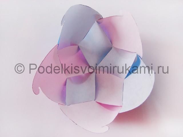 Как сделать шар из бумаги своими руками. Фото 11.