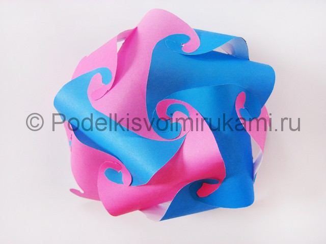 Как сделать шар из бумаги своими руками. Фото 13.