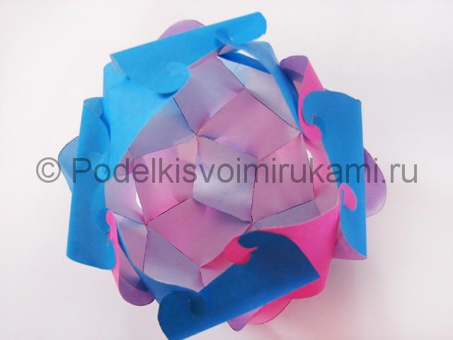 Как сделать шар из бумаги своими руками. Фото 14.
