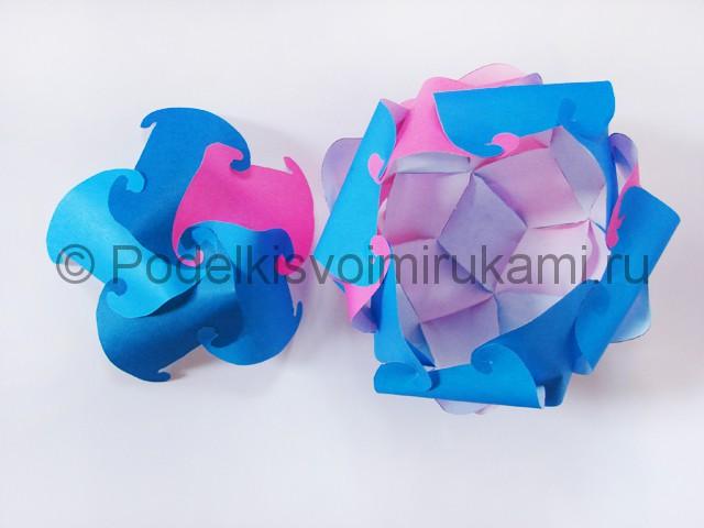 Как сделать шар из бумаги своими руками. Фото 15.