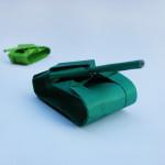 Как сделать танк из бумаги своими руками. Итоговый вид поделки.