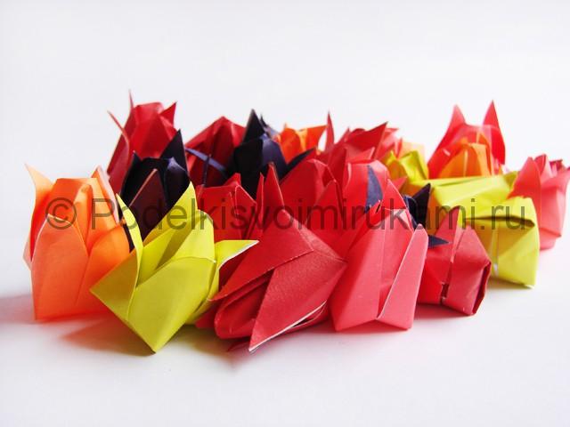 Как сделать тюльпаны из бумаги своими руками. Фото 18.