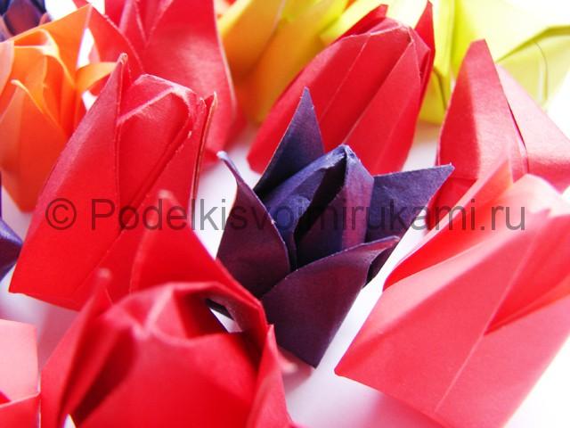 Как сделать тюльпаны из бумаги своими руками. Фото 19.
