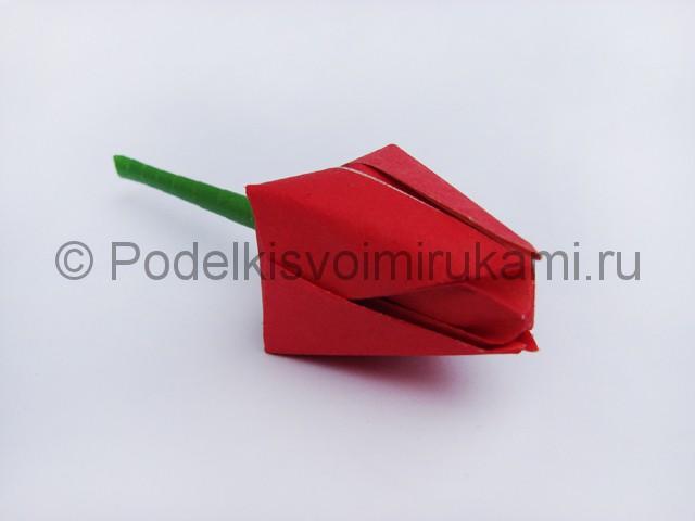 Как сделать тюльпаны из бумаги своими руками. Фото 22.