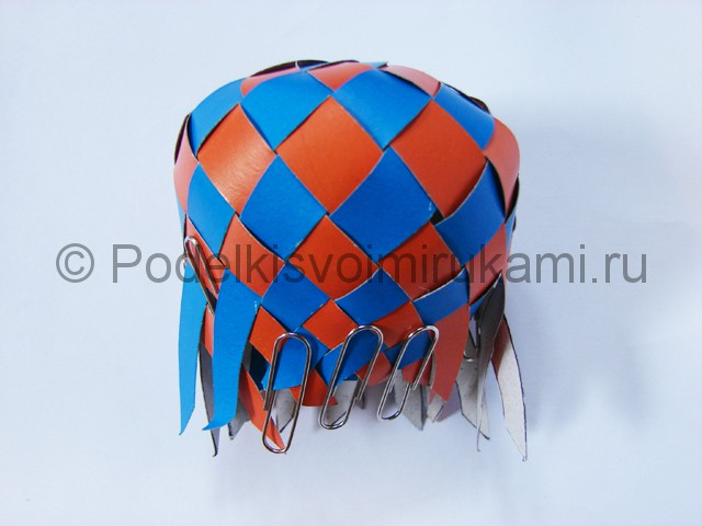 Как сделать воздушный шар из бумаги. Фото №16.
