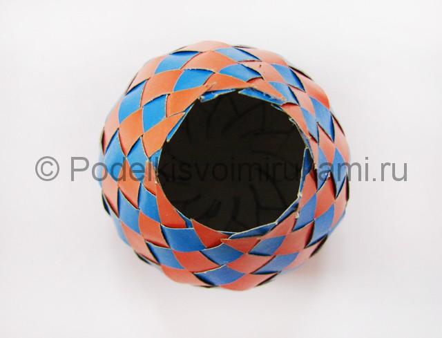 Как сделать воздушный шар из бумаги. Фото №22.