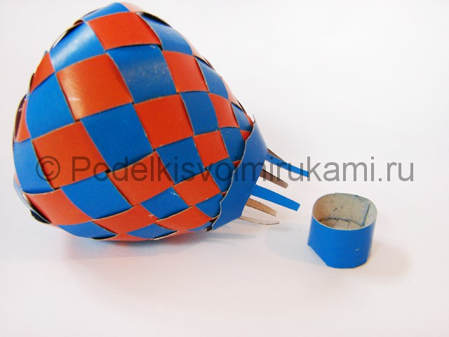 Как сделать воздушный шар из бумаги. Фото №30.