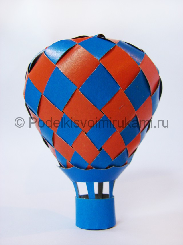 Как сделать воздушный шар из бумаги. Итоговый вид поделки. Фото №2.