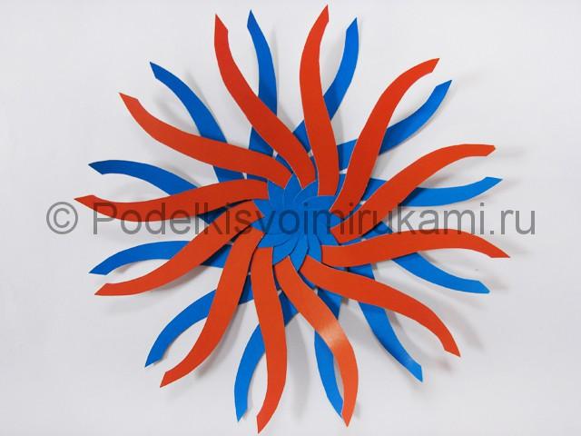 Как сделать воздушный шар из бумаги. Фото №8.