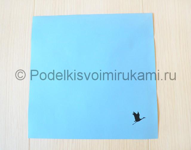 Как сделать журавля из бумаги своими руками. Фото 1.