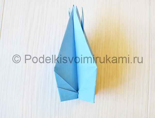 Как сделать журавля из бумаги своими руками. Фото 20.