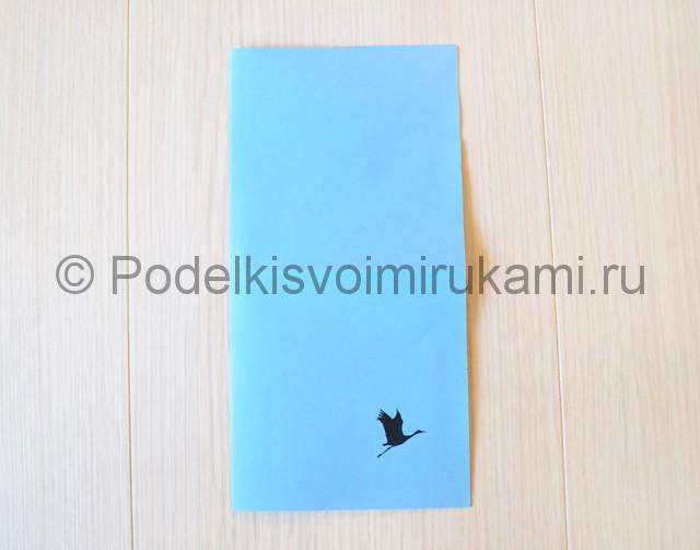 Как сделать журавля из бумаги своими руками. Фото 3.