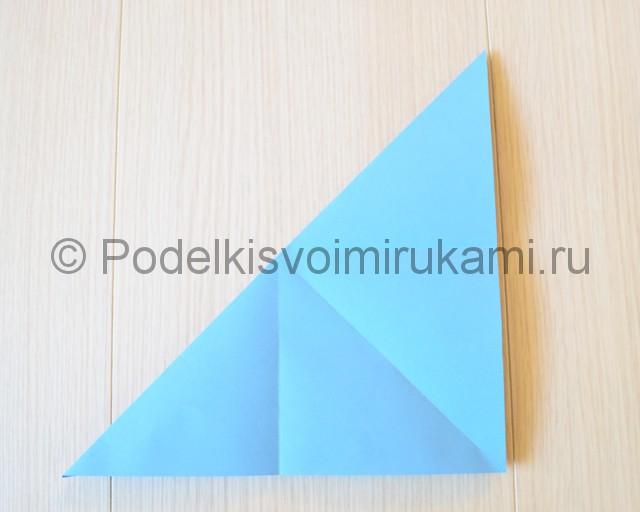 Как сделать журавля из бумаги своими руками. Фото 5.