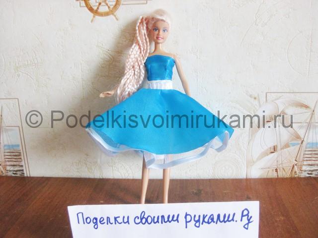 Как сшить пышное платье для куклы своими руками. Итоговый вид поделки. Фото 1.