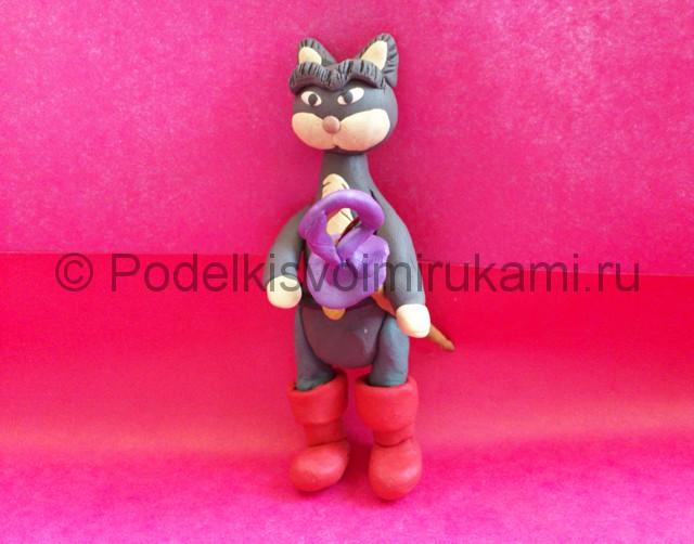 Кот в сапогах из пластилина. Шаг №12.