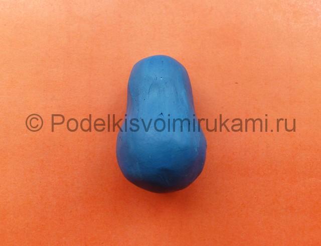 Лепка матрешки из пластилина. Шаг №2.