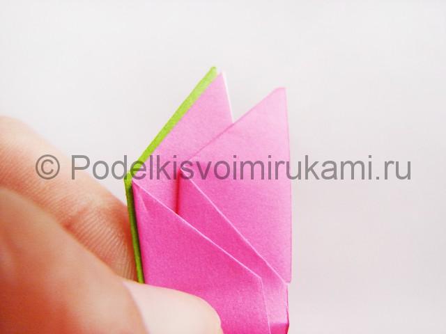 Поделка лотоса из бумаги своими руками. Фото 19.