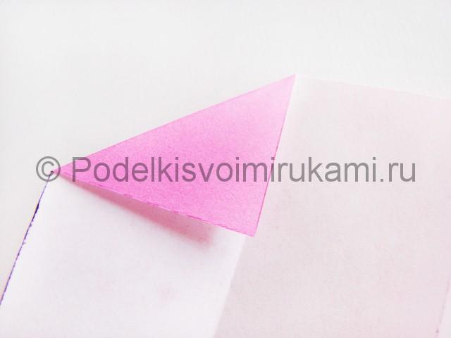 Поделка лотоса из бумаги своими руками. Фото 5.