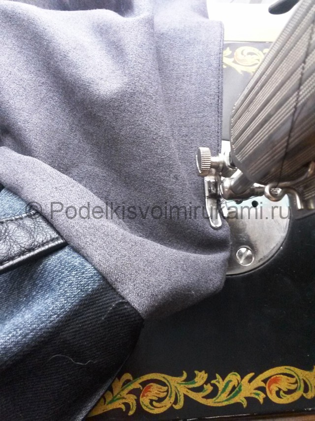 Сумка из старых джинс своими руками. Фото 15.