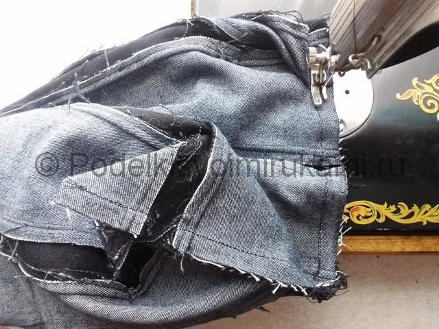 Сумка из старых джинс своими руками. Фото 7.