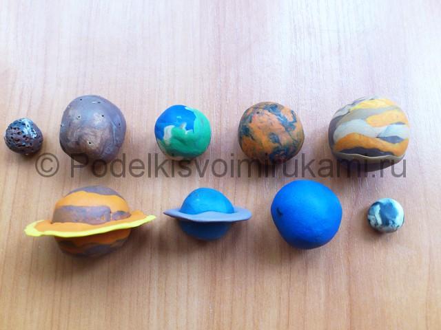 Солнечная система из пластилина. Шаг №15.