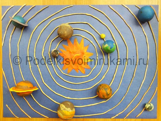Солнечная система из пластилина. Итоговый вид поделки.