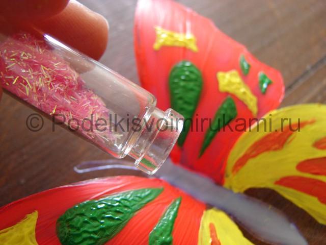 Бабочка из пластиковой бутылки. Фото 13.