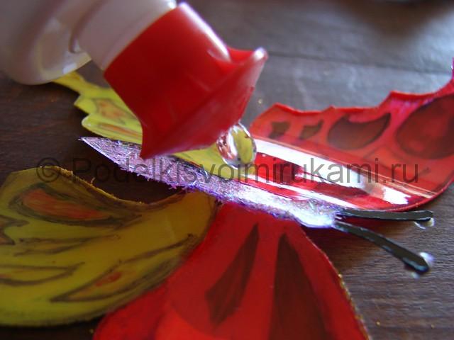 Бабочка из пластиковой бутылки. Фото 19.