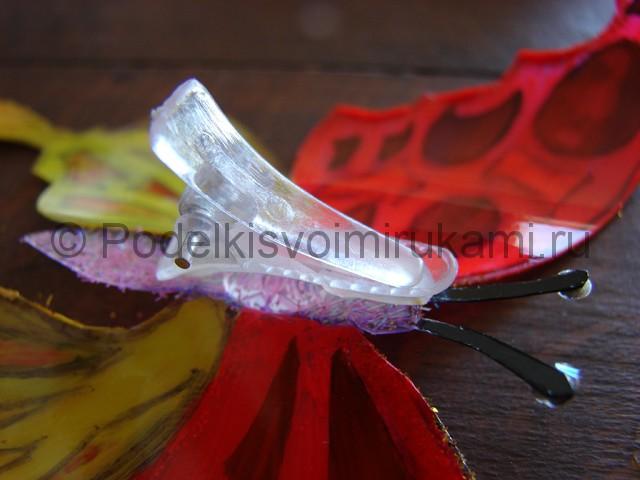 Бабочка из пластиковой бутылки. Фото 21.