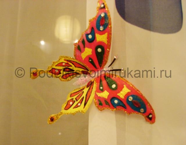 Бабочка из пластиковой бутылки. Итоговый вид поделки. Фото 1.