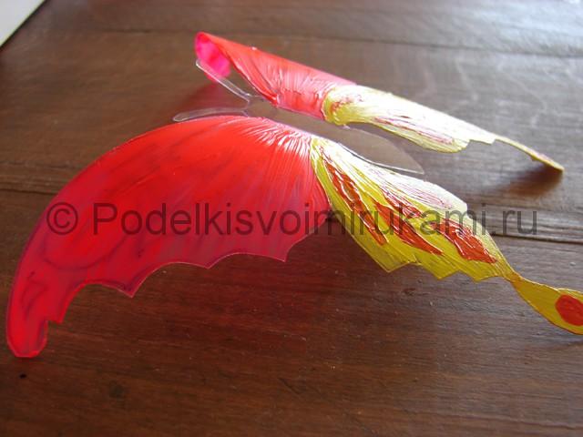 Бабочка из пластиковой бутылки. Фото 9.