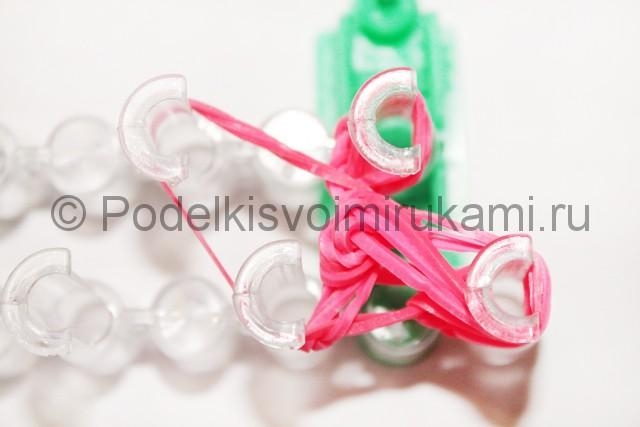 "Плетение браслет из резинок ""Сердце"". Фото 19."