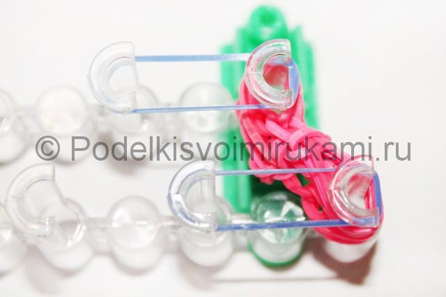"Плетение браслет из резинок ""Сердце"". Фото 25."