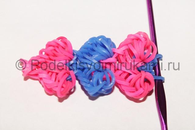 "Плетение браслет из резинок ""Сердце"". Фото 39."