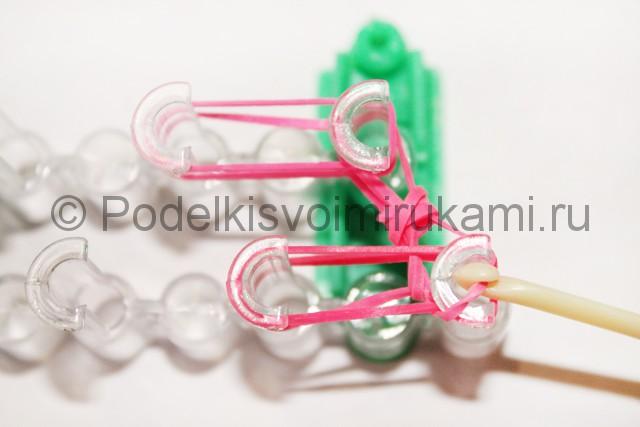"Плетение браслет из резинок ""Сердце"". Фото 9."