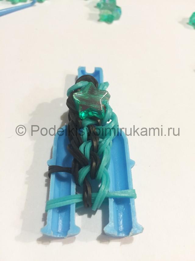 "Плетение браслета ""Звезда"" из резинок. Фото 14."
