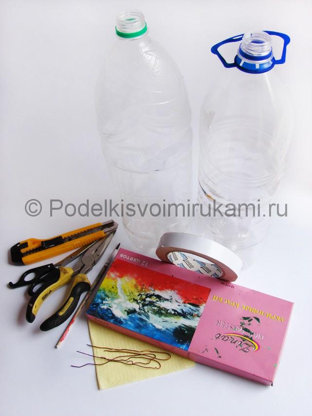 Как сделать ежика из пластиковых бутылок