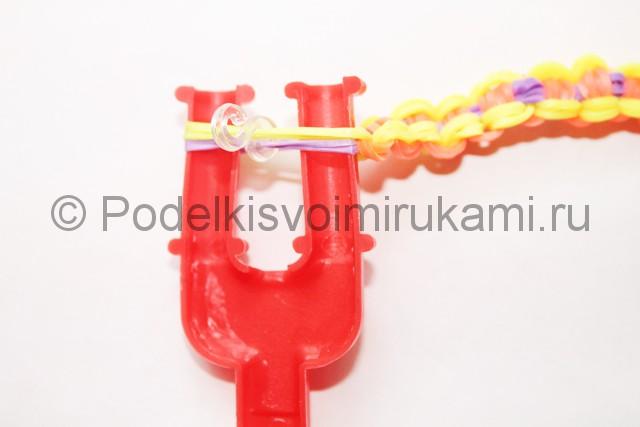 """Плетение браслета из резинок """"Велосипедная цепь"""". Фото 33."""