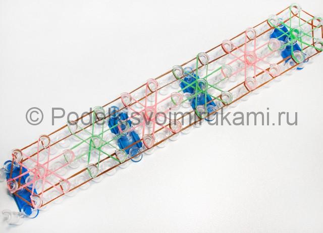 "Плетение браслета ""Звёздочка"" из резинок на станке. Фото 6."