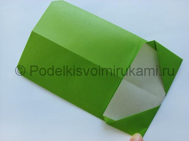 Поделка бумажного кошелька своими руками. Фото 15.