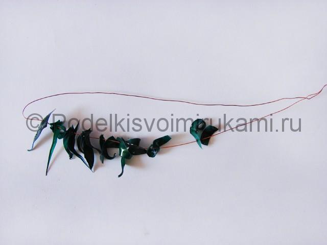 Как сделать дерево из пластиковой бутылки. Фото 14.
