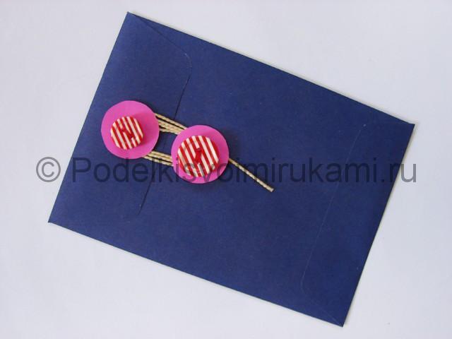 Как сделать конверт из бумаги. Итоговый вид поделки. Фото 3.