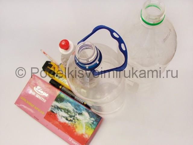 Как сделать лягушку из пластиковых бутылок. Фото 1.