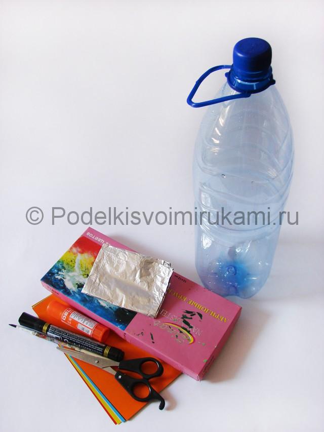 Как сделать ракету из пластиковой бутылки. Фото 1.