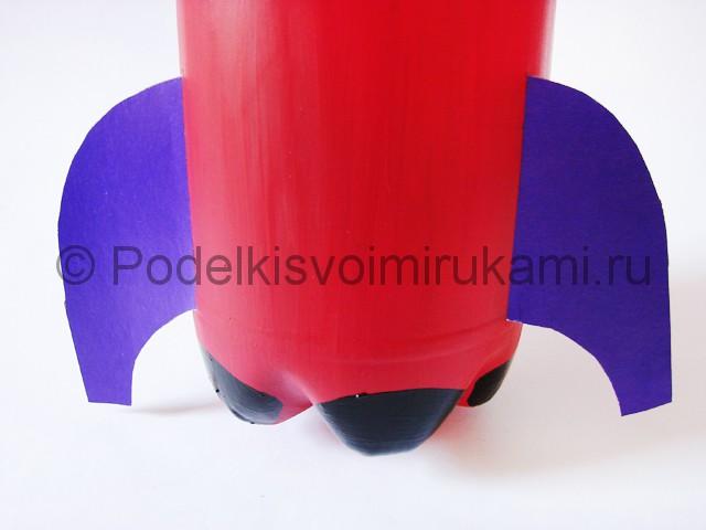 Как сделать ракету из пластиковой бутылки. Фото 13.
