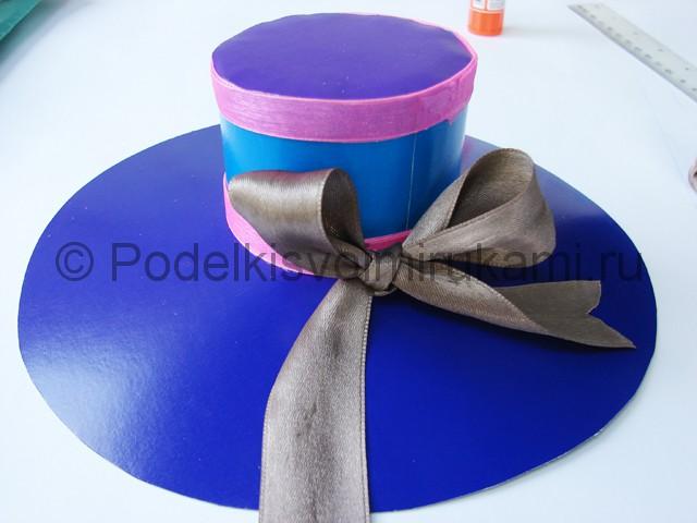 Как сделать шляпу из бумаги. Фото 24.
