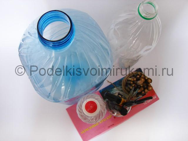Как сделать скворечник из пластиковой бутылки. Фото 1.
